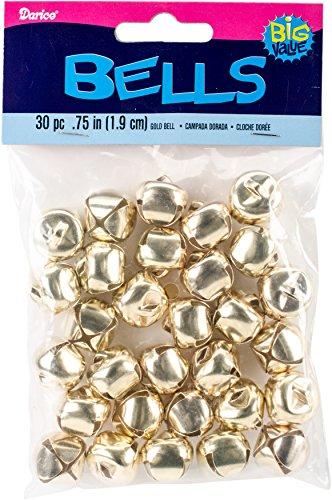 Darice 30-Piece Gold Bells, 0.5-Inch