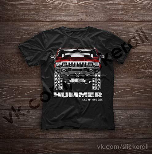 8c2cb82f2988 Amazon.com: Hummer H2 Original T-Shirts 100% Cotton Free Shipping: Handmade