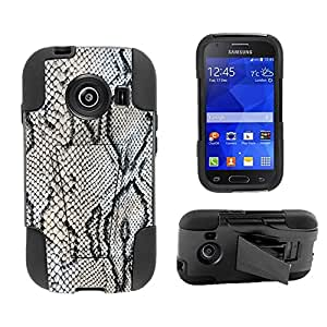 Beyond Cell ?Samsung Galaxy Ace Style S765C (Straight talk,Net 10,TracFone,Cricket,International)Premium Protection Slim Armor Hyber Tough Rugged High Impact Hybrid Phone Case With Built In Kickstand - Viper Design - Retail Packaging