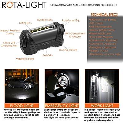 Rota-Light - Premium Magnetic Work Light w/ 9-Hour Battery Life