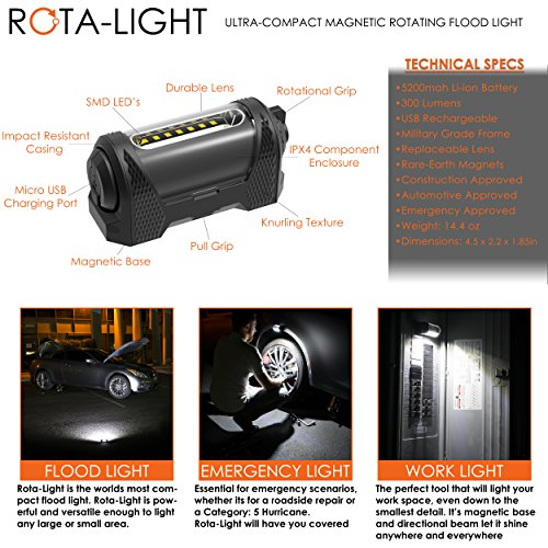 Rota-Light - Premium Magnetic Work Light w/ 9-Hour Battery Life by ROTA-LIGHT (Image #1)