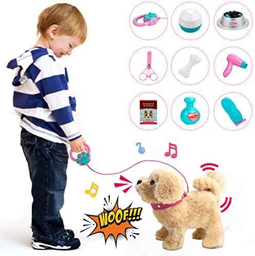 Forty4 Plush Electronic Dog, StuffedPuppyDog...
