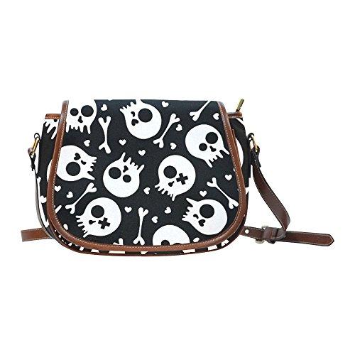 Sugar Skull Dia De Los Muertos Women's Waterproof Cross-body Shoulder Travel Saddle Bag Purse