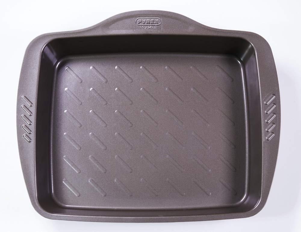 Pyrex Fuente Rectangular 40X31Cm Asimetria, Acero, Negro, 3.19 cm ...