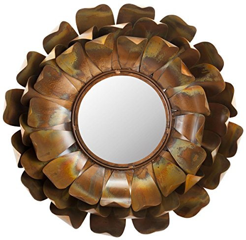 Safavieh Home Collection Lotus Mirror, Copper