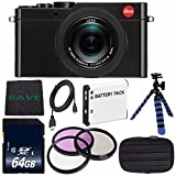 Leica D-LUX (Typ 109) Digital Camera (Black) (International Model) + DMW-BLE9 Replacement Lithium Ion Battery + Flexible Tripod with Gripping Rubber Legs
