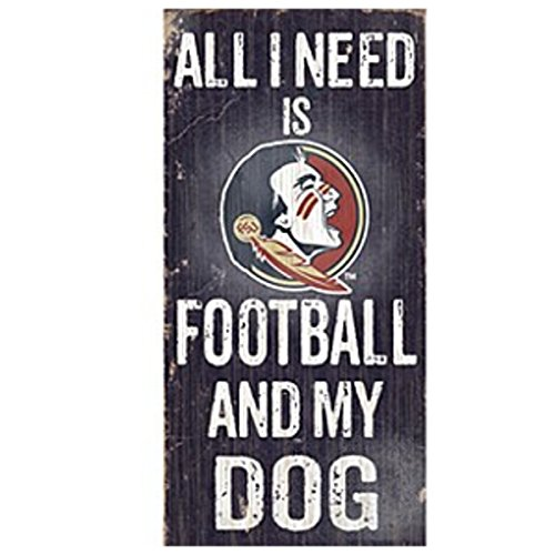 Official National Collegiate Athletic Association Fan Shop Authentic NCAA Wooden Signs (Florida State Seminoles - Football and Dog) (Furniture Outlet Florida)