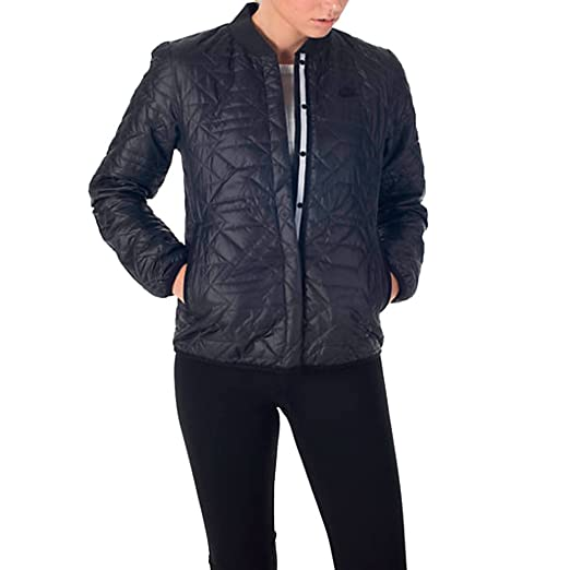 Nike Womens Quilted Black Insulated Primaloft Jacket 854747 010 (XS)