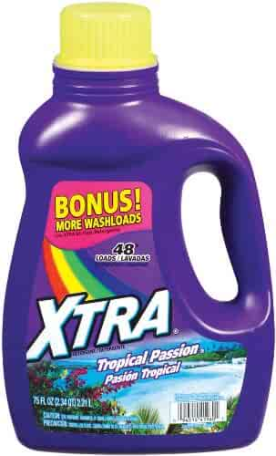 Xtra Liquid Laundry 2X Concentrate Detergent, Tropical Passion, 75 Ounce