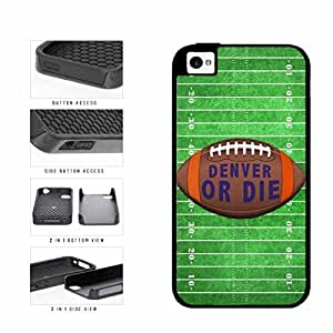 Denver or Die Football Field 2-Piece Dual Layer Phone Case Back Cover Apple iPhone 4 4s