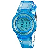 Armitron Sport Women's 45/7051BLU Digital Light Blue Clear Jelly-Strap Watch