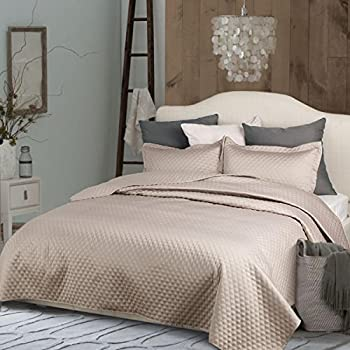Amazon Com Tahari Home Luxe Washed Cotton Velvet Quilted
