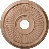 Ekena Millwork CMW16BERO 16-Inch OD x 1 1/8-Inch P Carved Berkshire Ceiling Medallion, Red Oak by Ekena Millwork