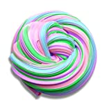 BORUD Fluffy Slime, Rainbow Slime Strees Relief Toy 4 Colors Super Soft Fluffy Floam Slime Non Toxic Stretchy and Slippery Slime - Ideal for Work, Office, Arts, Crafts, and School Projects