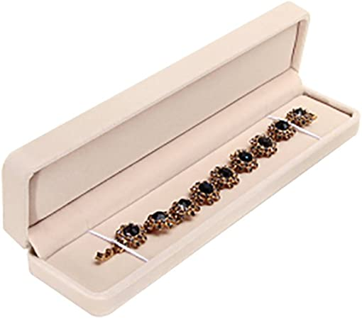 JUNGEN® Estuche de joyería de Franela para Pulsera, Organizador de Joyerías, Collar Joyería Caja de Almacenamiento Boda Regalo (Beige): Amazon.es: Hogar