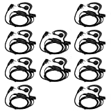 Retevis 2 Pin Earpiece with Mic 2 Way Radio Earhook Earphone Headset Single Wire Compatible Baofeng BF-888S UV-5R BF-F8HP Kenwood Arcshell AR-5 Retevis H-777 RT22 RT21 RT27 Walkie Talkies(10 Pack)