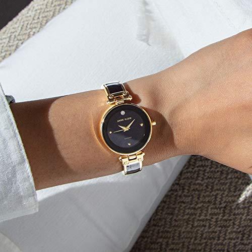 Anne Klein Women's Diamond-Accented Bangle Watch 2