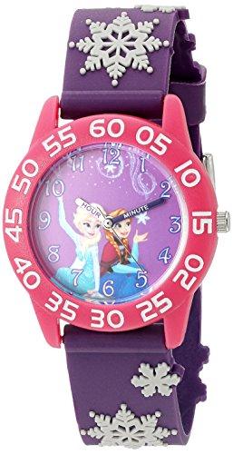 Disney Girl's 'Frozen' Quartz Plastic Watch, Color:Purple (Model: W002982)