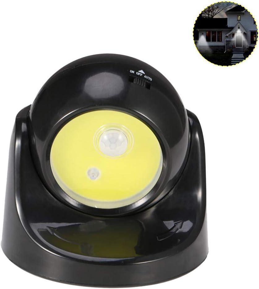 HP CAMP Lámpara de inducción del Cuerpo Humano COB, rotación Nocturna de 360 Grados con luz de Pasillo 32LED, lámpara de habitación para niños Negra: Amazon.es: Hogar