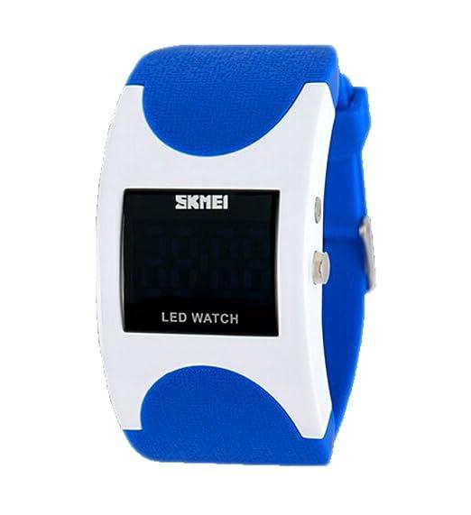 Skmei - Reloj LED Digital electrónico Deportivo, Infantil, Color Azul: Amazon.es: Relojes