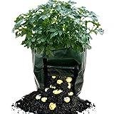 #2: KPAO Garden 2-pack 7 Gallon Grow Bags Potato Vegetable Grow Planter Bag with Handles (Green)