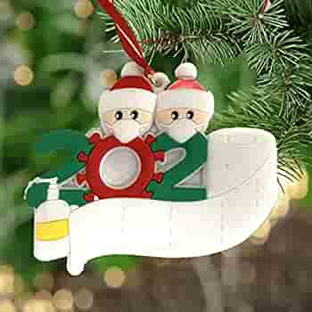 Details about  /Door Survivor Family Xmas Hanging Christmas Tree Decor Personalized Quarantine