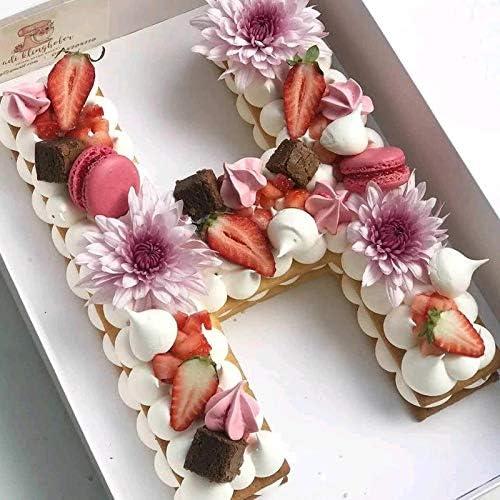 QFWN Alphabet Backformen Kuchen-Plätzchen-Schokolade Dekoration Plastikform-Geburtstags-Kuchen-Backen-Design-Zubehör Gebäck Werkzeuge (Color : Y, Shape Style : 8inch)