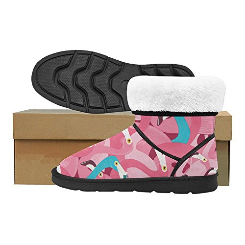 D-story Fashion Mujeres Zapatos Skull Mujeres Snow Botas Color17