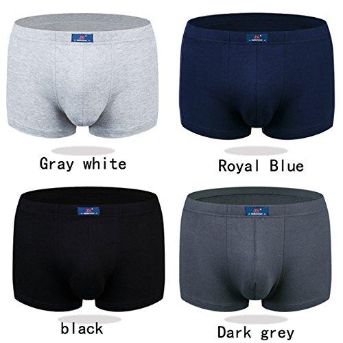Mens 4-Pack Modal Underwear Short Leg Boxer Briefs Underpants Microfiber Trunks