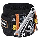 Vastar Magnetic Wristband With 15 Powerful Magnets for Holding Tools Screws, Nails, Bolts, Scissors, Drilling Bits and More, Unique Gifts for Men DIY