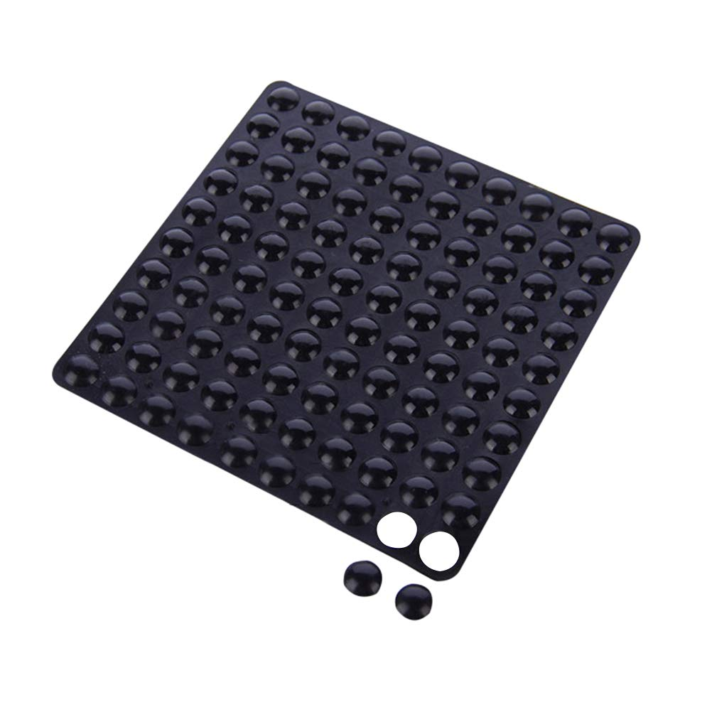 Black Vosarea 100pcs Self-Adhesive Bumper Pads Noise-dampening Anti Collision Stickers Wall Protectors Rubber Bumper Pads for Toilet Door Handle Cabinet