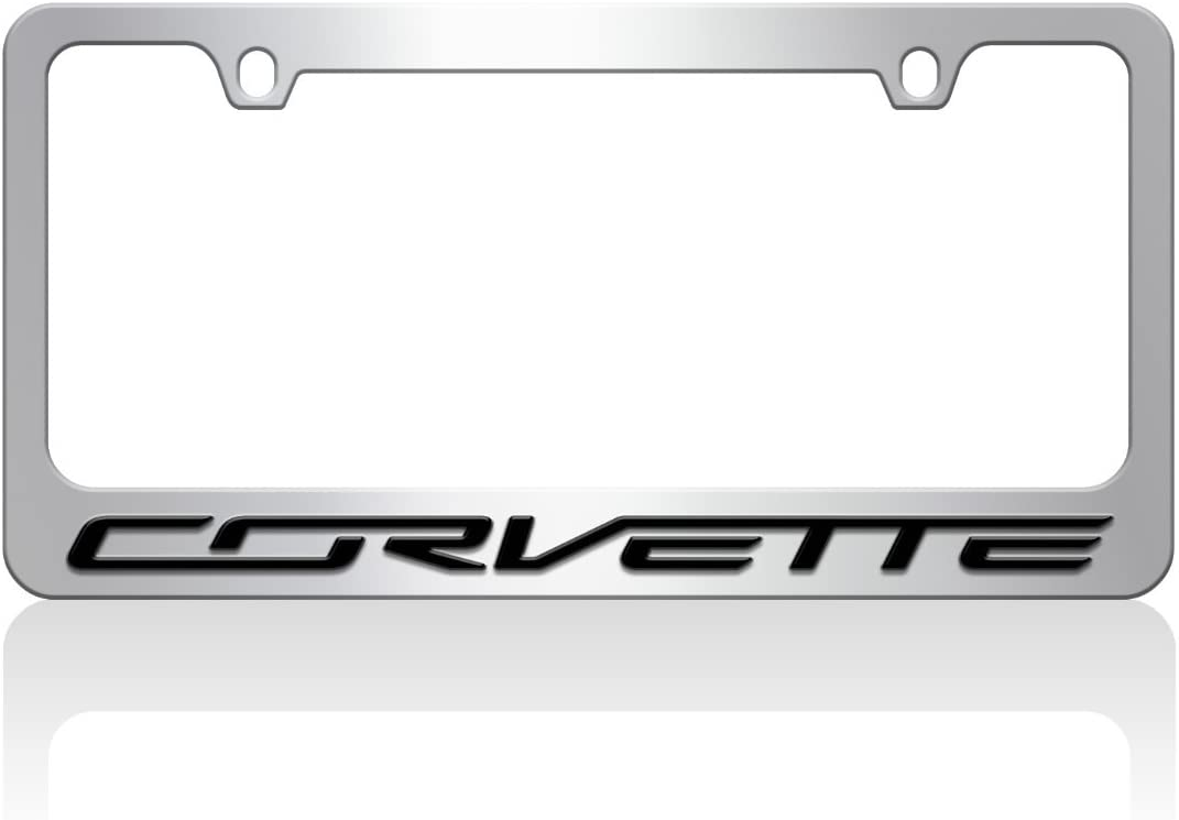 License Plate Frame For C7 Chevrolet Corvette Laser Etched Premium Design