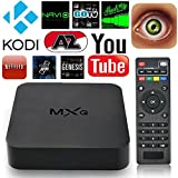 MXQ Android TV Box Amlogic S805 Quad Core 1G/8G Smart Tv Box Remote Android 4.4 Pre-installed Kodi Xbmc Fully Loaded HDMI HD 1080P Best Streaming Media Player