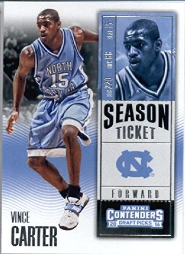 Vince Carter Basketball (2016-17 Panini Contenders Draft Picks #41 Vince Carter North Carolina Tar Heels Basketball Card)