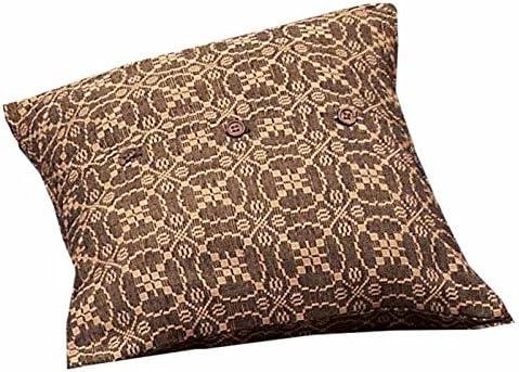 Home Collection by Raghu Marshfield Jacquard Black Tan Pillow Sham, 21 x 31