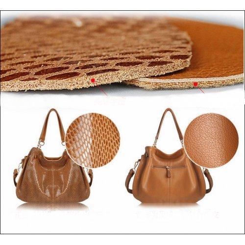 Sac à main PITONE, sac en cuir PU, sac bandouliére femme, sac à main tendance, sac à main cuir - Marone, Type 1