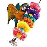 Gosear-Lufa Esponja Pájaro Masticar Juguetes / Hecho a Mano Loro Swing Escalera Juguetes / Jaula Juguete mordedura-Resistente para Loro Cacatúa roja