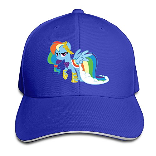 NUBIA Friendship Is Magic Rainbow Sunbonnet Hat Flex Fit Cap RoyalBlue