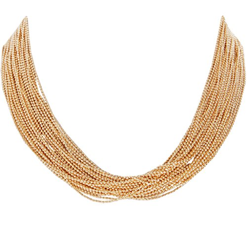 Humble Chic Women's Multistrand Statement Necklace Gold-Tone 19