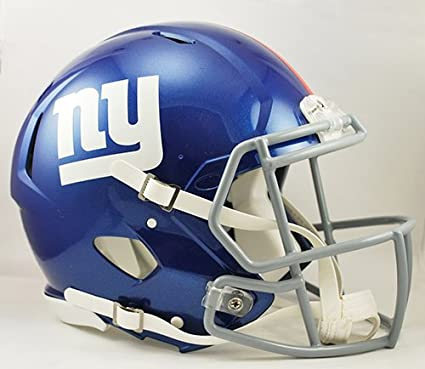 23289262222 Image Unavailable. Image not available for. Color  NY New York Giants  Riddell Speed Full Size Authentic NFL Pro Football Helmet ...