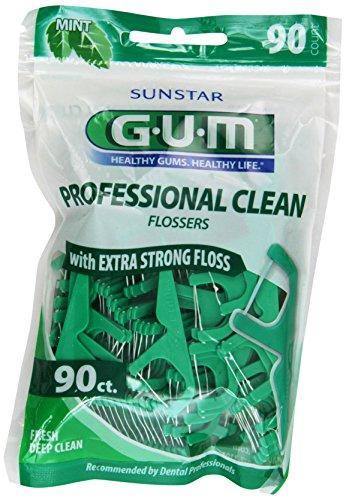Gum Eez-Thru Flossers Mint, 90 count (Pack of 3)