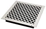 SteelCrest BTU14X14SWHH Bronze Series Designer Wall/Ceiling Vent Cover, with Air-Volume Damper, and Mounting Screws, White