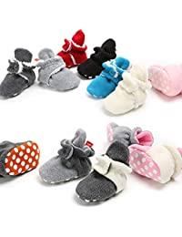 Unisex Baby Fleece Lined Bootie Non-Skid Infant Winter Shoes