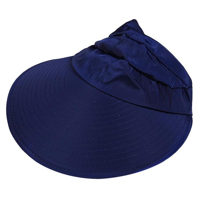 Rcool Gorras de béisbol Viseras Gorro de pescador Pamelas Sombreros Panamá, Sombrero de protección solar para el sol Sombrero de protección solar UV ...
