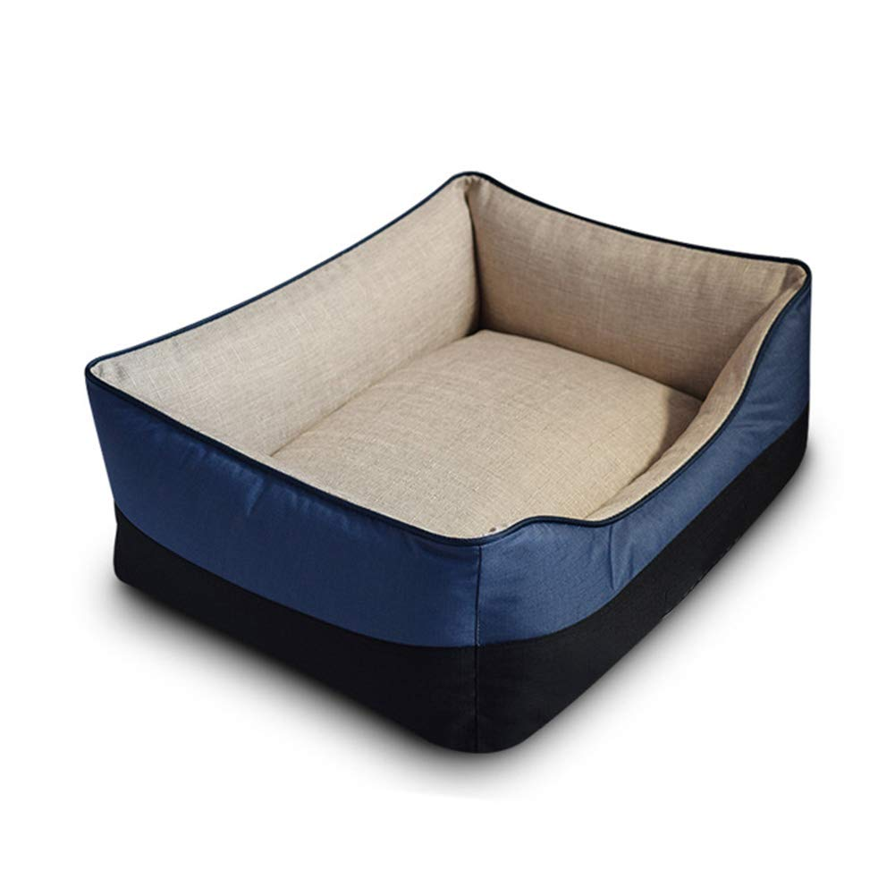 60×75cm ZXL Soft Dog Bed, Orthopaedic Pet Bed, Warmth and Security, Provide Support for The Head and Neck, Washable (Size   60×75cm)
