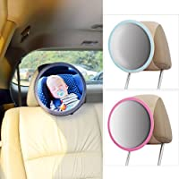 TFY See-My-Baby Rear Facing Car Seat Safety Mirror (Black)