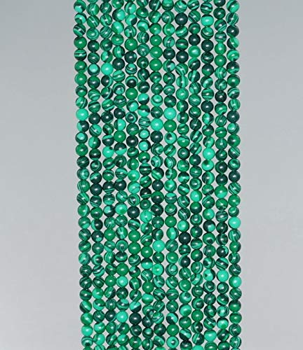 (2MM Hedge Mazes Malachite Gemstone Green Round 2MM Loose Beads 15.5'')