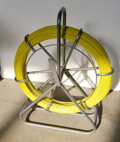 Fish Tape Fiberglass Reel Wire Cable Running Rod Duct Rodder Fishtape Puller 6mm by other (Image #6)