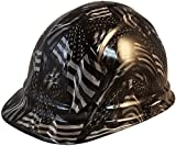 Texas America Safety Company Hydro Dipped Cap Style Hard Hat - Covert USA Flag