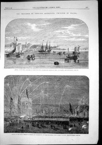 old-original-antique-victorian-print-princess-alexandra-royal-steam-yacht-sleswig-kiel-korsor-1863-9